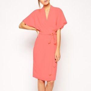 ASOS Midi Kimono Wrap Dress (petite)
